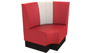 Rounded Corner Seat 'Retro' Fluted