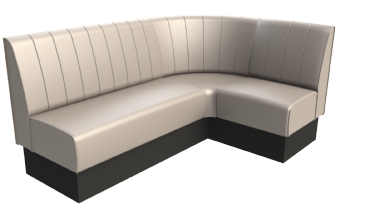 Rounded Fluted Back Corner Booths
