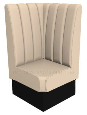 Royale Deep Fluted and Roll Top High Back Corner Booth Seat - 700mm x 700mm