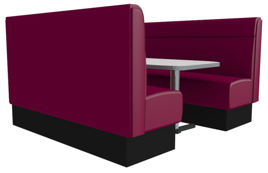 Vienna High Back Plain 6 Seater Booth Set