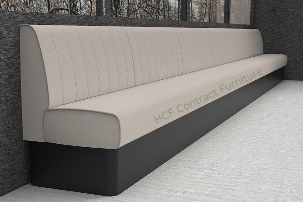 Kansas Fluted Back Banquette Booth Seating Standard Height