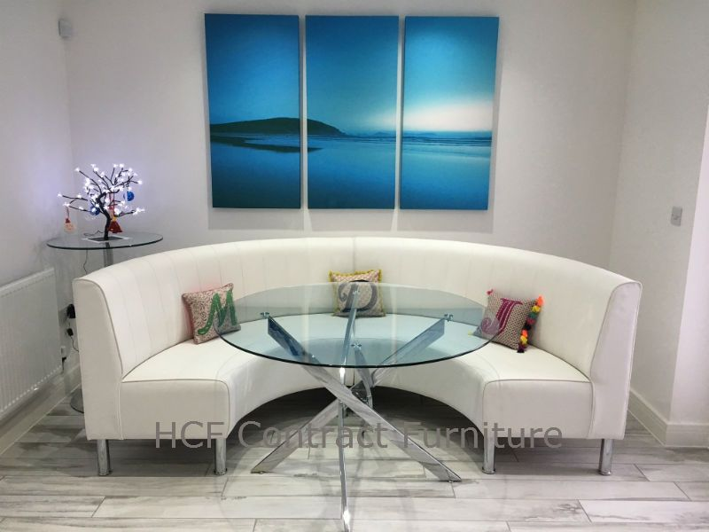 Round Booth And Banquette Seating Circular Or Curved - Round booth table